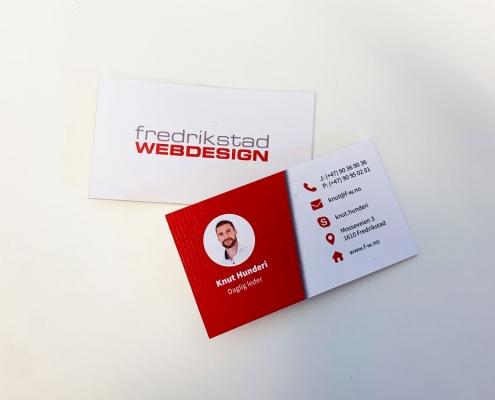 Visittkort Fredrikstad Webdesign